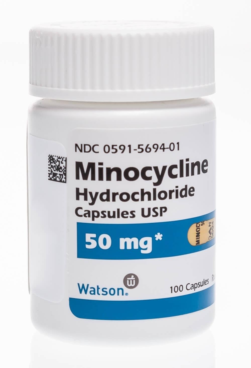 Minocycline Hydrochloride Capsules 100mg