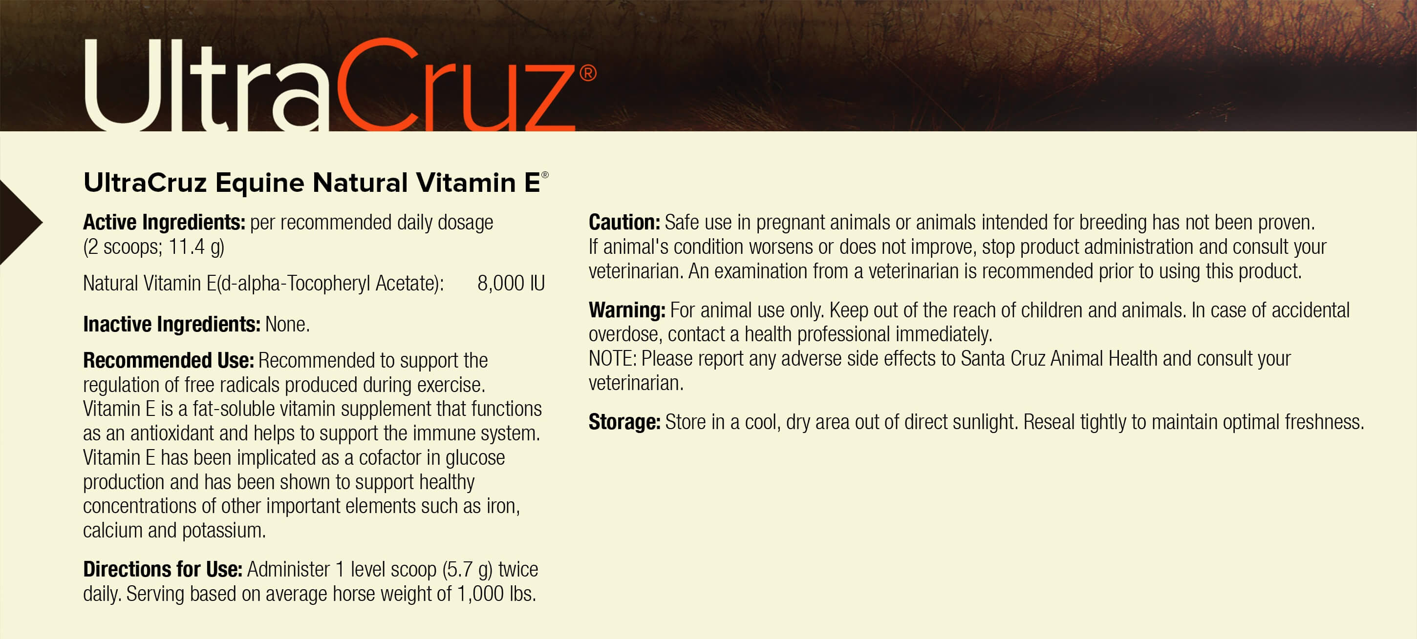 Ultracruz Equine Natural Vitamin E 174 Santa Cruz Animal Health