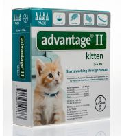 Advantage II Kitten, Turquoise, 2-5 pounds, 4 count
