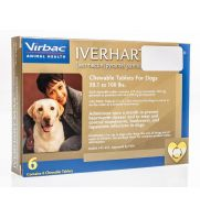 Iverhart Max Chewable Tablets, Brown, 51-100 pounds, 6 doses