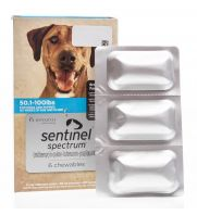 Sentinel Spectrum, Blue, 50.1-100 pounds, 6 count
